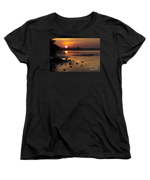 Women's T-Shirt (Standard Cut) featuring the photograph Sunrise Photograph by Meg Rousher