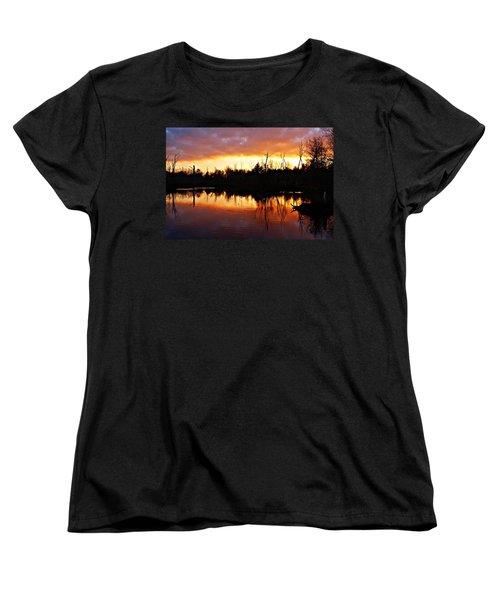 Sunrise Thanksgiving Morning Women's T-Shirt (Standard Cut) by Joe Faherty