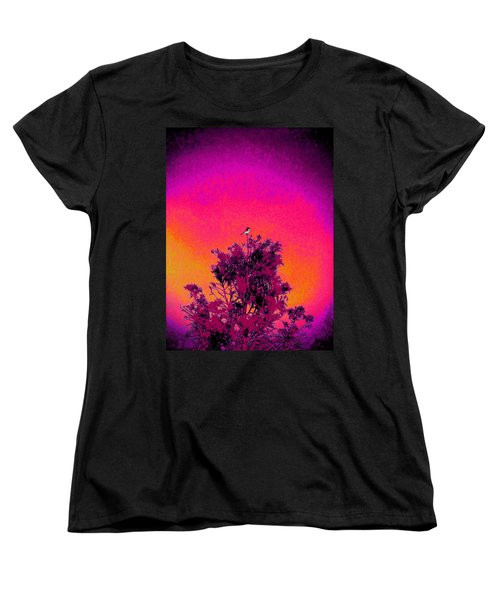Women's T-Shirt (Standard Cut) featuring the painting Sunrise To Sunset Nature Is Beautiful by David Mckinney