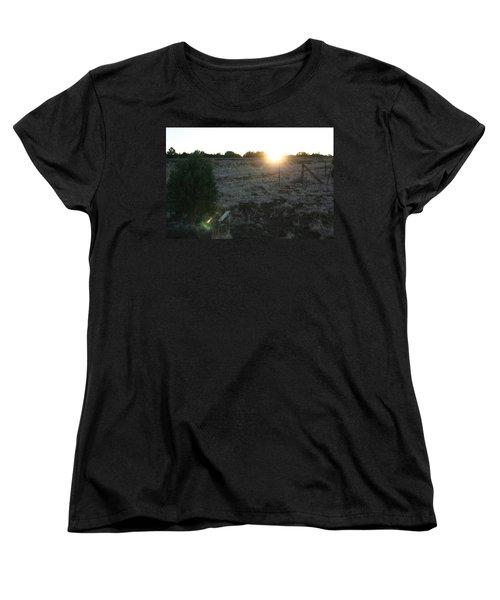Women's T-Shirt (Standard Cut) featuring the photograph Sunrize by David S Reynolds