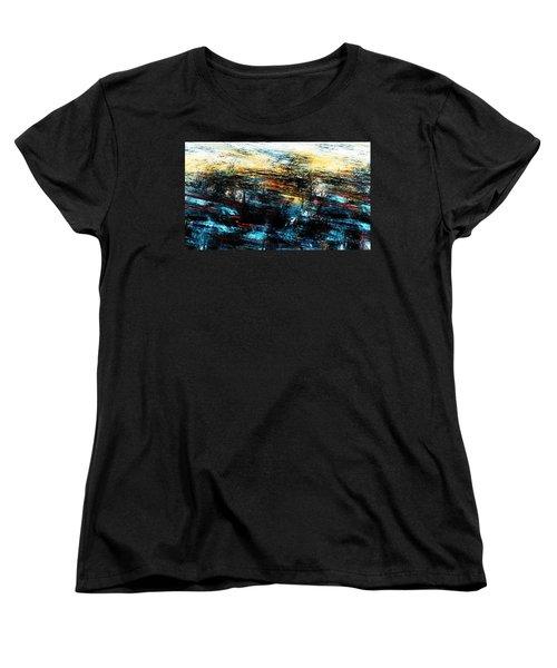 Women's T-Shirt (Standard Cut) featuring the digital art Sunset 083014 by David Lane