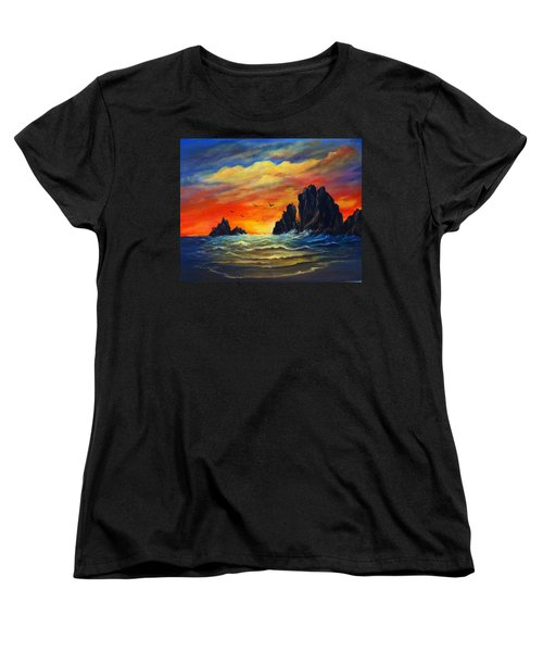 Sunset 2 Women's T-Shirt (Standard Cut) by Bozena Zajaczkowska