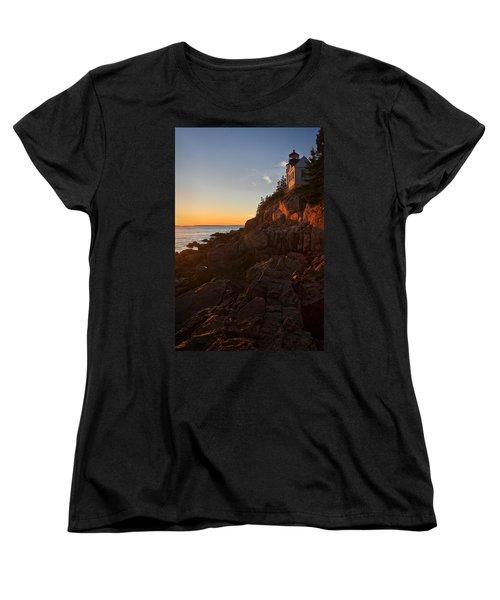 Women's T-Shirt (Standard Cut) featuring the photograph Sunset At Bass Head   by Priscilla Burgers