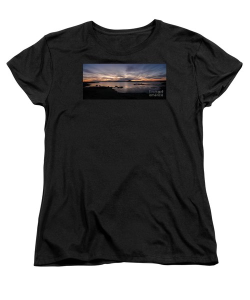 Sunset Over Lake Myvatn In Iceland Women's T-Shirt (Standard Cut) by IPics Photography