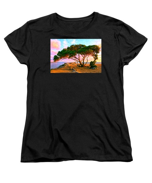 Sunset At The Wedge In Newport Beach Women's T-Shirt (Standard Cut) by Michael Pickett