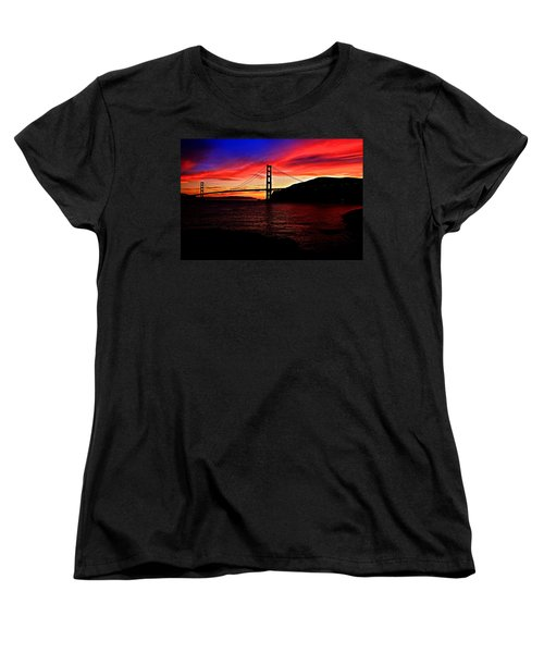 Sunset By The Bay Women's T-Shirt (Standard Cut) by Dave Files