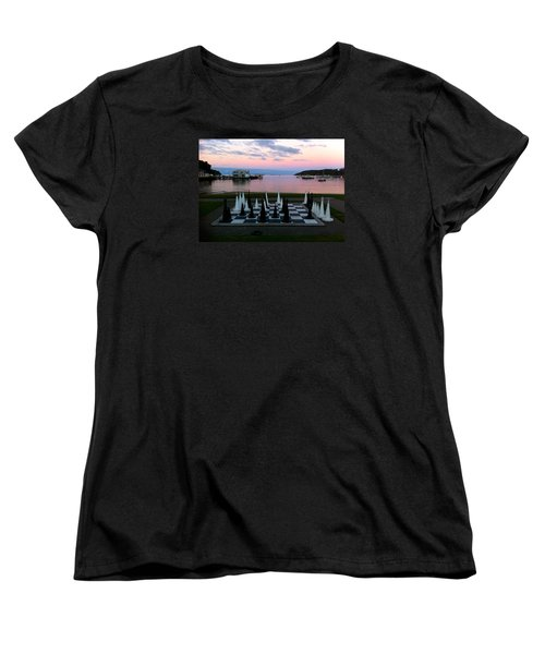 Sunset Chess At Half Moon Bay Women's T-Shirt (Standard Cut) by Venetia Featherstone-Witty