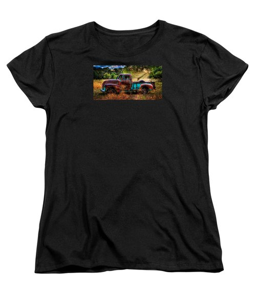 Sunset Chevy Pickup Women's T-Shirt (Standard Cut) by Ken Smith