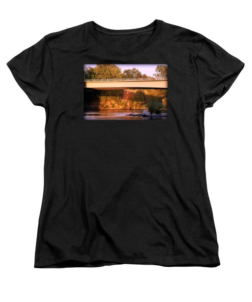 Women's T-Shirt (Standard Cut) featuring the photograph Sunset Dip by Melanie Lankford Photography