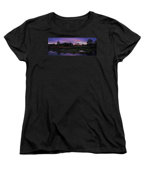 Sunset In Purple Along Highway 7 Women's T-Shirt (Standard Cut) by Peter v Quenter