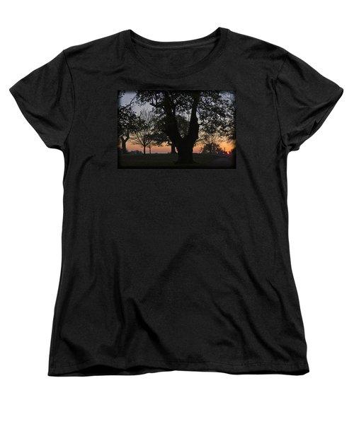 Sunset In Richmond Park Women's T-Shirt (Standard Cut) by Maj Seda