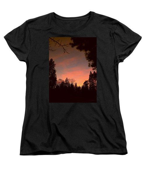Sunset In Winter Women's T-Shirt (Standard Cut) by Michele Myers
