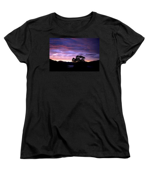 Sunset Lake Women's T-Shirt (Standard Cut) by Matt Harang