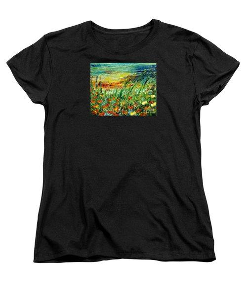 Sunset Meadow Series Women's T-Shirt (Standard Cut) by Teresa Wegrzyn