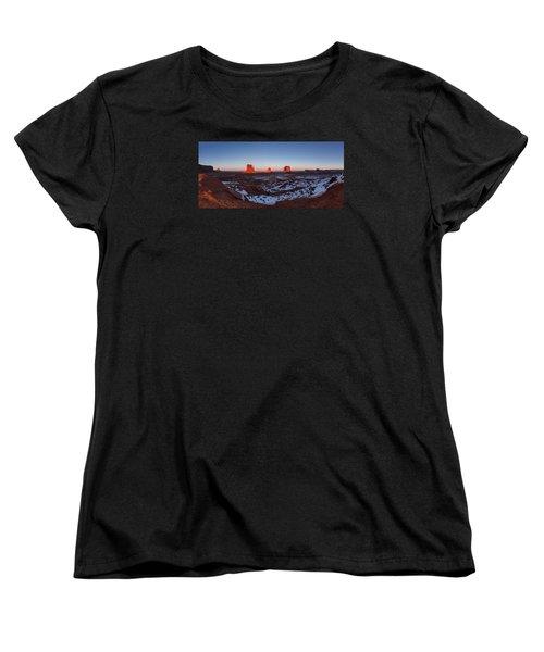 Sunset Moonrise Women's T-Shirt (Standard Cut) by Tassanee Angiolillo