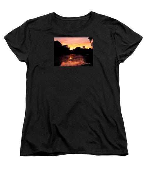 Women's T-Shirt (Standard Cut) featuring the photograph Sunset Near Rosemere - Qc by Juergen Weiss