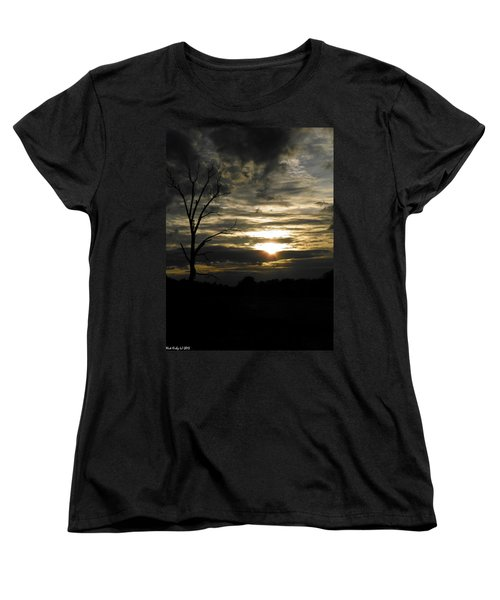 Sunset Of Life Women's T-Shirt (Standard Cut) by Nick Kirby