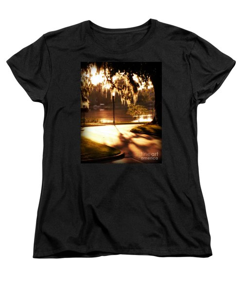 Sunset On Lake Mizell Women's T-Shirt (Standard Cut) by Valerie Reeves