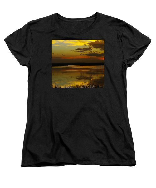Sunset On Medicine Lake Women's T-Shirt (Standard Cut) by Jeff Swan