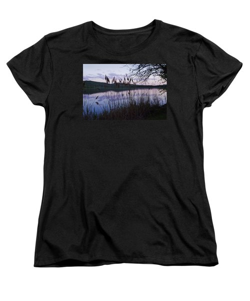 Women's T-Shirt (Standard Cut) featuring the photograph Sunset On Rockland Lake - New York by Jerry Cowart