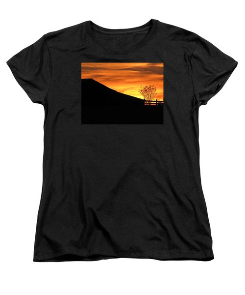 Women's T-Shirt (Standard Cut) featuring the photograph Sunset On The Farm by Greg Simmons