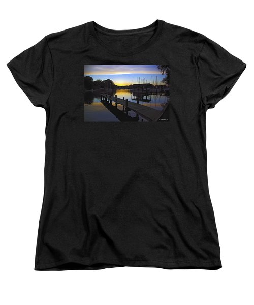 Women's T-Shirt (Standard Cut) featuring the photograph Sunset Silhouette by Brian Wallace