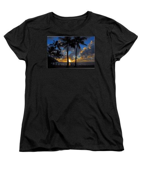 Women's T-Shirt (Standard Cut) featuring the photograph Sunset Silhouettes by Lynn Bauer
