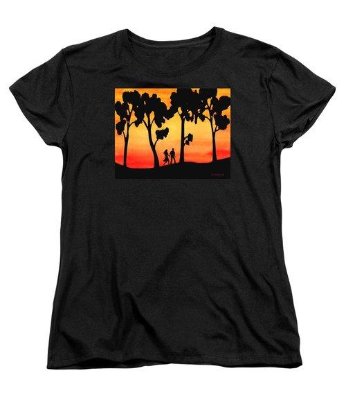 Sunset Walk Women's T-Shirt (Standard Cut) by Sophia Schmierer