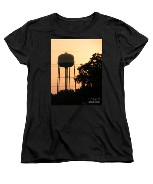 Sunset Water Tower Women's T-Shirt (Standard Cut) by Joseph Baril