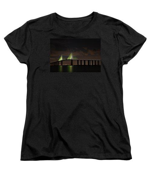 Sunshine Skyway Bridge Women's T-Shirt (Standard Cut) by Beverly Stapleton