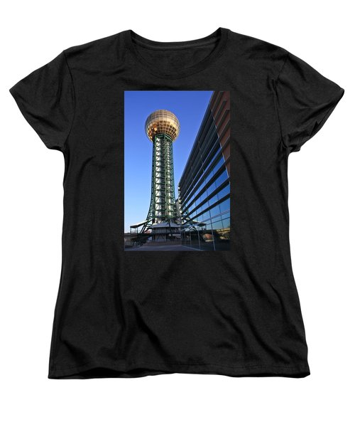 Sunsphere And Conference Center Women's T-Shirt (Standard Cut) by Melinda Fawver