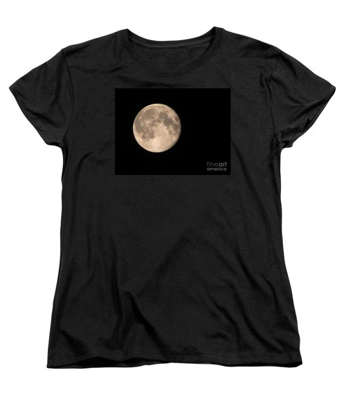 Women's T-Shirt (Standard Cut) featuring the photograph Super Moon by David Millenheft