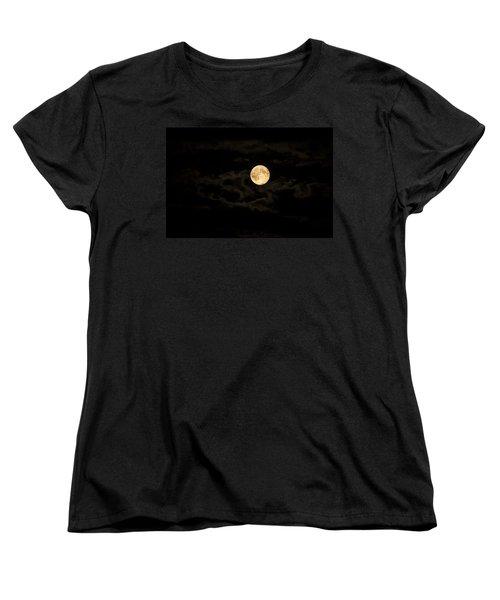Super Moon Women's T-Shirt (Standard Cut) by Spikey Mouse Photography