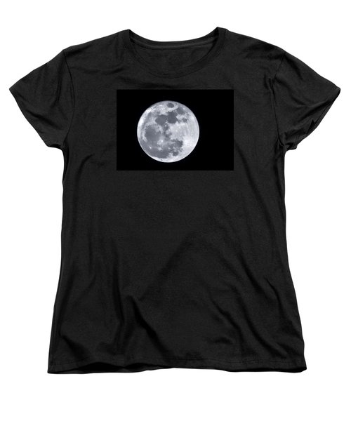 Super Moon Over Arizona  Women's T-Shirt (Standard Cut) by Saija  Lehtonen