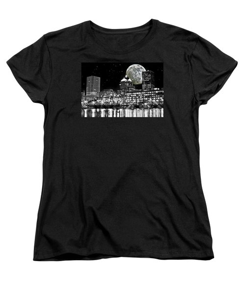 Super Moon Over Rochester Women's T-Shirt (Standard Cut) by Richard Engelbrecht