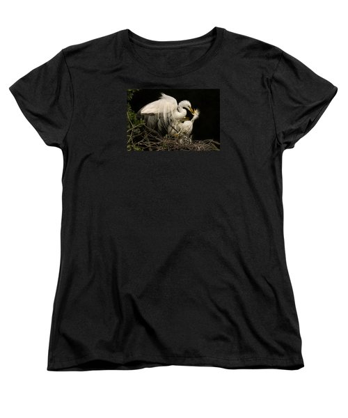 Women's T-Shirt (Standard Cut) featuring the photograph Suppertime by Priscilla Burgers