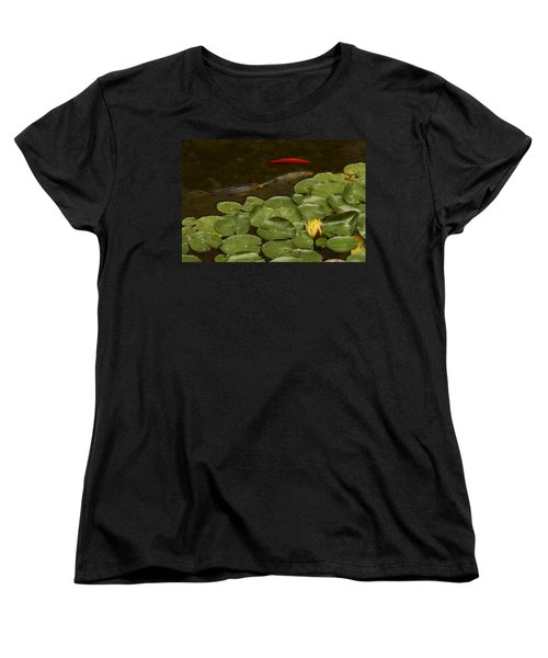 Women's T-Shirt (Standard Cut) featuring the photograph Surface Tension by Michael Gordon