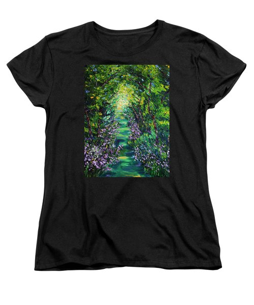 Women's T-Shirt (Standard Cut) featuring the painting Surrender by Meaghan Troup
