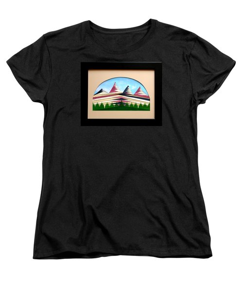 Women's T-Shirt (Standard Cut) featuring the mixed media Sushi by Ron Davidson