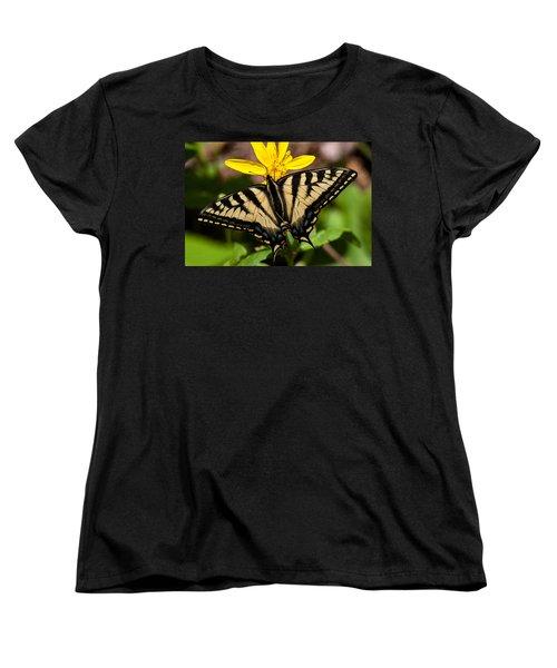 Swallowtail Butterfly Women's T-Shirt (Standard Cut) by Jack Bell