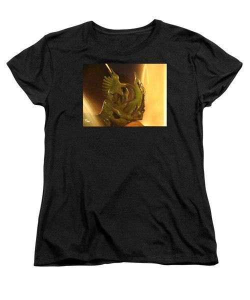 Women's T-Shirt (Standard Cut) featuring the photograph Swann Fountain by Christopher Woods