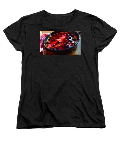 Sweetest Cheese Pie Women's T-Shirt (Standard Cut) by Ramona Matei