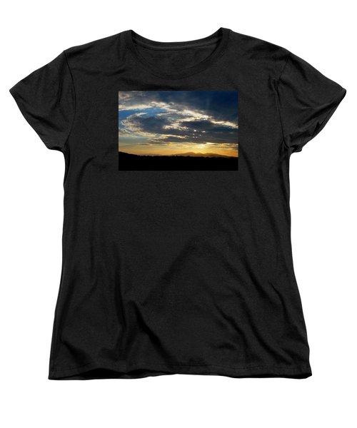 Women's T-Shirt (Standard Cut) featuring the photograph Swirl Sky Landscape by Matt Harang