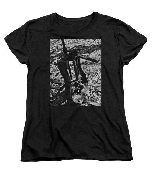 Women's T-Shirt (Standard Cut) featuring the photograph Switching Tracks by Sara  Raber