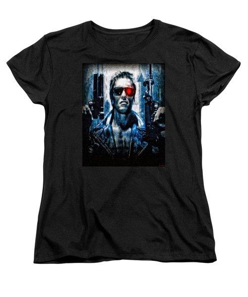 T800 Terminator Women's T-Shirt (Standard Cut) by Joe Misrasi