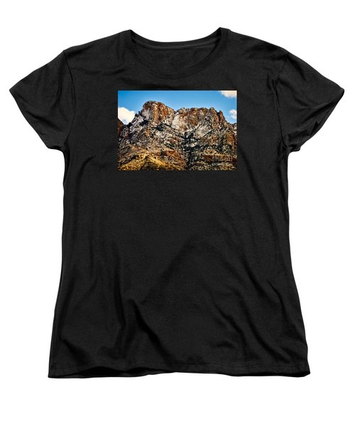 Women's T-Shirt (Standard Cut) featuring the photograph Table Mountain In Winter 42 by Mark Myhaver