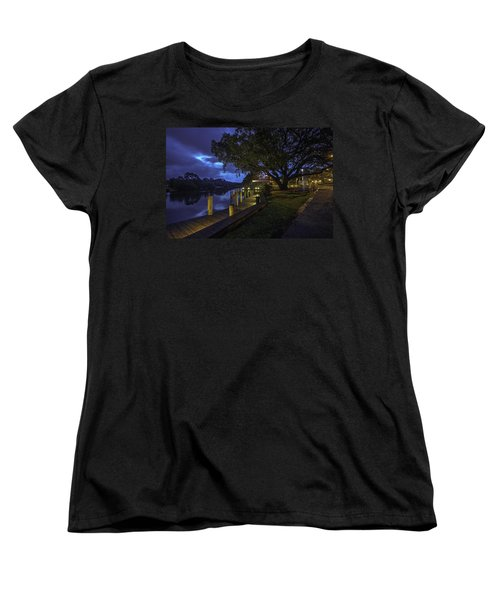 Women's T-Shirt (Standard Cut) featuring the digital art Tacky Jacks Before The Storm by Michael Thomas