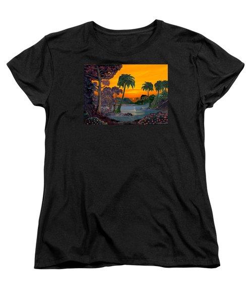 Tahitian Sunset Women's T-Shirt (Standard Cut) by Glenn Holbrook