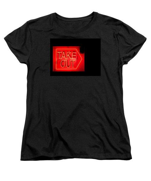 Take Out Women's T-Shirt (Standard Cut)
