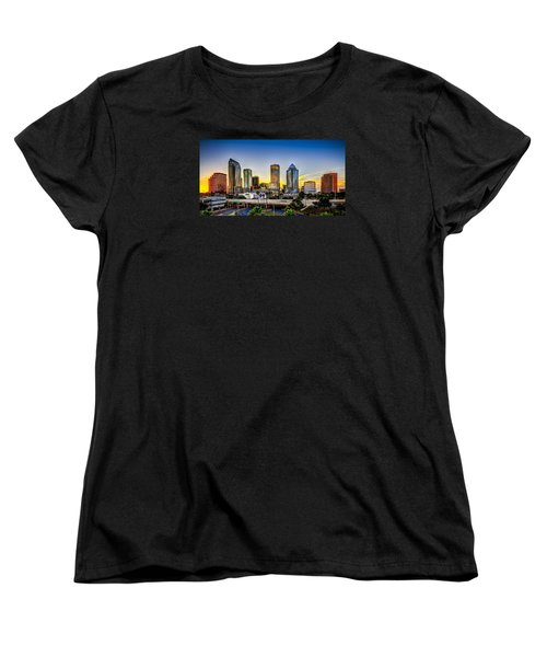 Tampa Skyline Women's T-Shirt (Standard Cut) by Marvin Spates